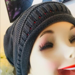 Gray Slouch Beanie / Hat